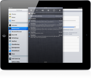 Customize The Size Of Your iPad's Notification Center With BetterCenter Jailbreak Tweak