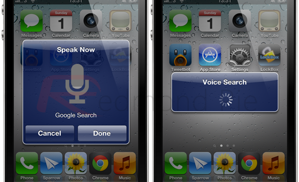 Jailbreakers Can Now Google Voice Search From Their Jailbroken iDevice's Home Screen