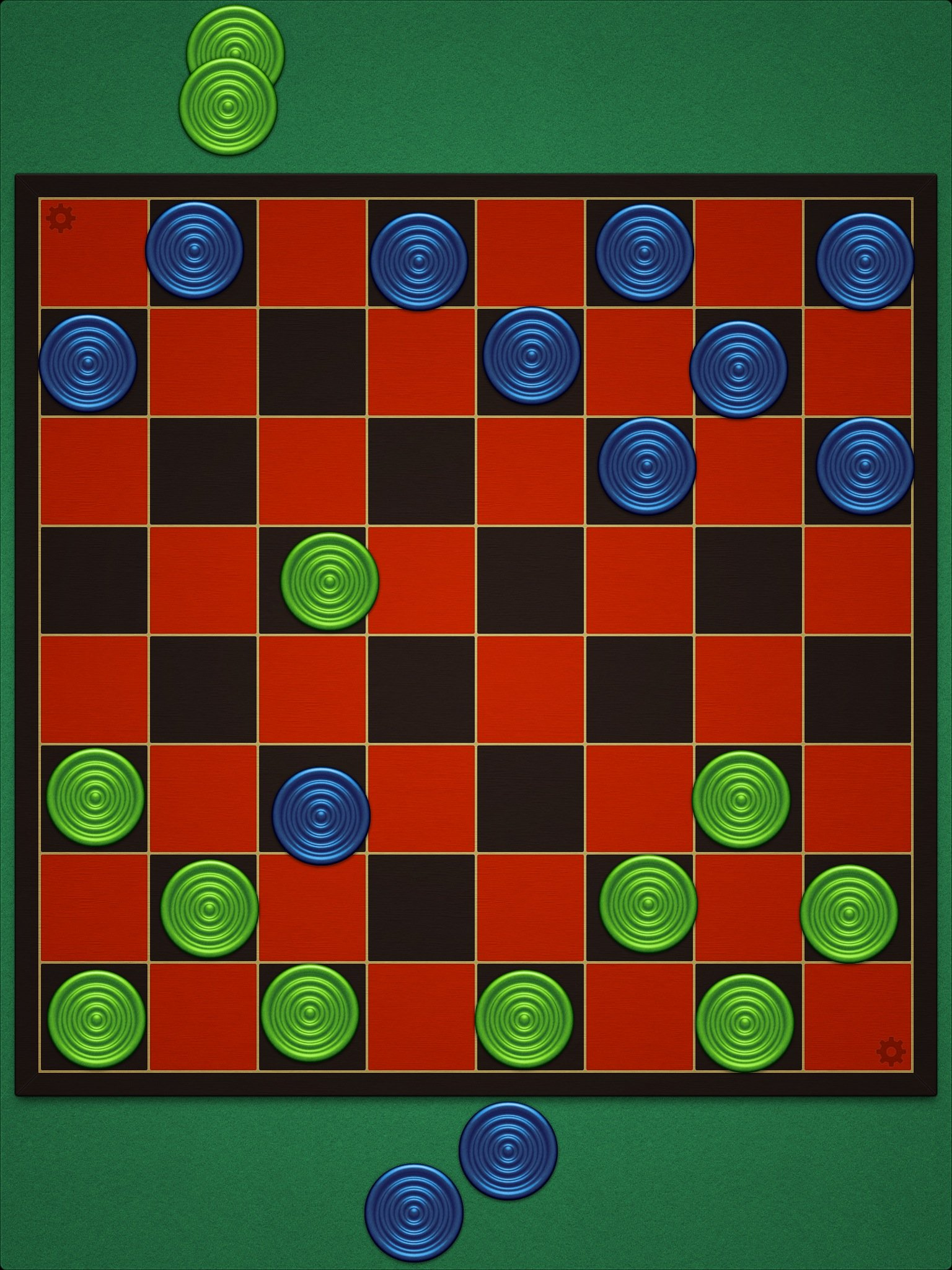 Turn Your iPad Into A Beautiful Checkers Set With Checkers — 2 Players
