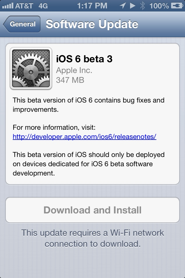 Apple Releases Third iOS 6 Beta To Developers