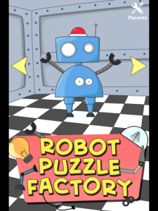 Robot Puzzle Factory for kids and toddlers by Happy Grizzly screenshot