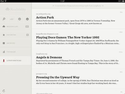 Readability Introduces Curated Reading Lists Plus Various Enhancements