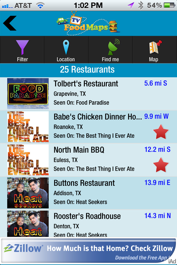 Plan Your Next Great Television Food Adventure With TVFoodMaps