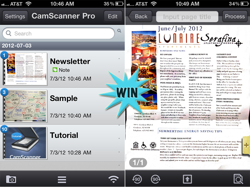 A Chance To Win A CamScanner Pro Promo Code For iPhone With A Retweet Or Comment