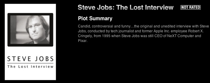 Apple Won't Tell You, But Steve Jobs' Lost Interview Available Now In iTunes
