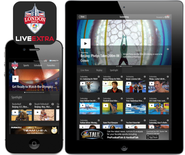 NBC Universal Releases Two Olympics Apps, One That Offers Live Streaming For All Events