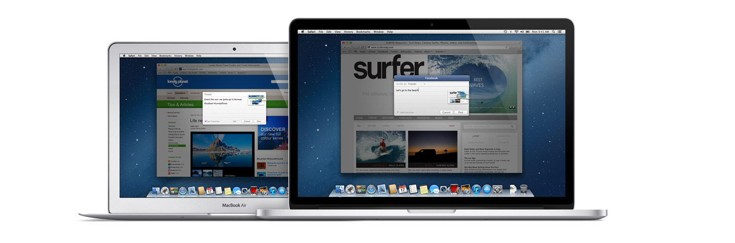 OS X Mountain Lion - Shared links