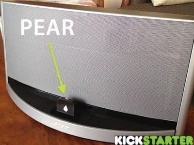 The Pear Kickstarter Brings Juicy Bluetooth Technology To Speakers With An iOS Dock