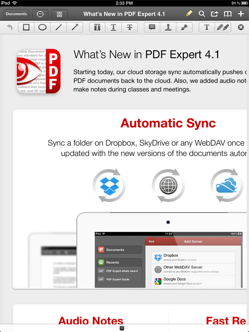 PDF Expert Gets Speedy With New Update
