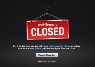It's Official: MobileMe Is Dead