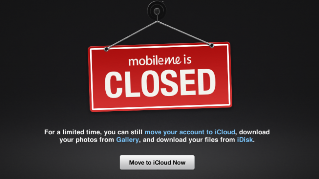 It's Official: MobileMe Is Dead