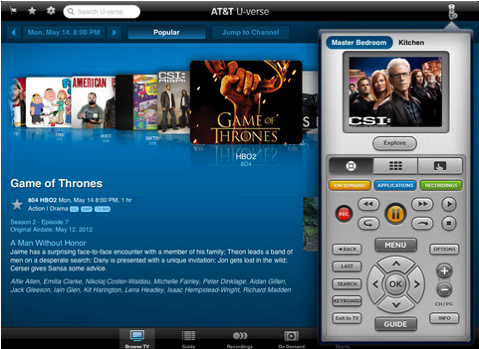 AT&T Makes U-verse iOS App Even Better With New Second-Screen