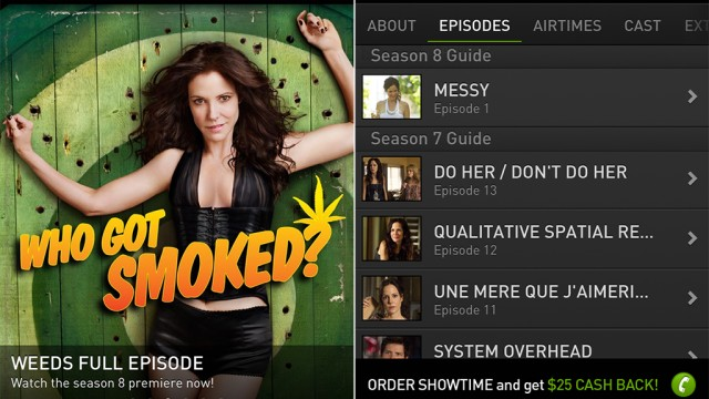 Showtime Networks Makes The Weeds iOS App A Bit Greener