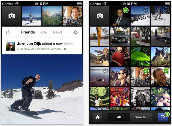 Facebook Camera Captures Support For Albums, Notifications And More