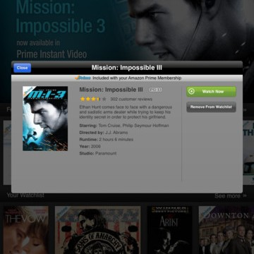 Amazon Launches Instant Video App For iPad: Stream Content, Download For Offline Viewing