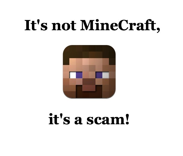 Beware The App Store Scam: MineCraft Impersonator Appears In App Store