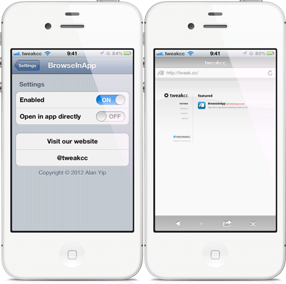 BrowseInApp Jailbreak Tweak Allows Users To Surf The Web From Within An iOS Application