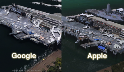 Apple Takes On Google In 3-D Maps Comparison