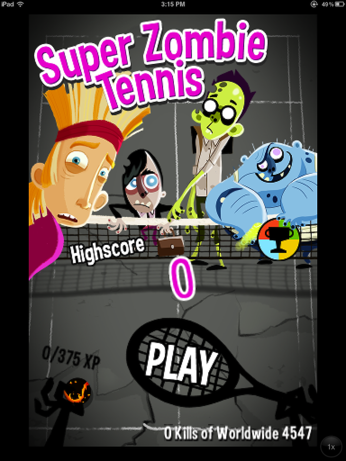 Quirky App Of The Day: Super Zombie Tennis Serves Up Some Great Entertainment