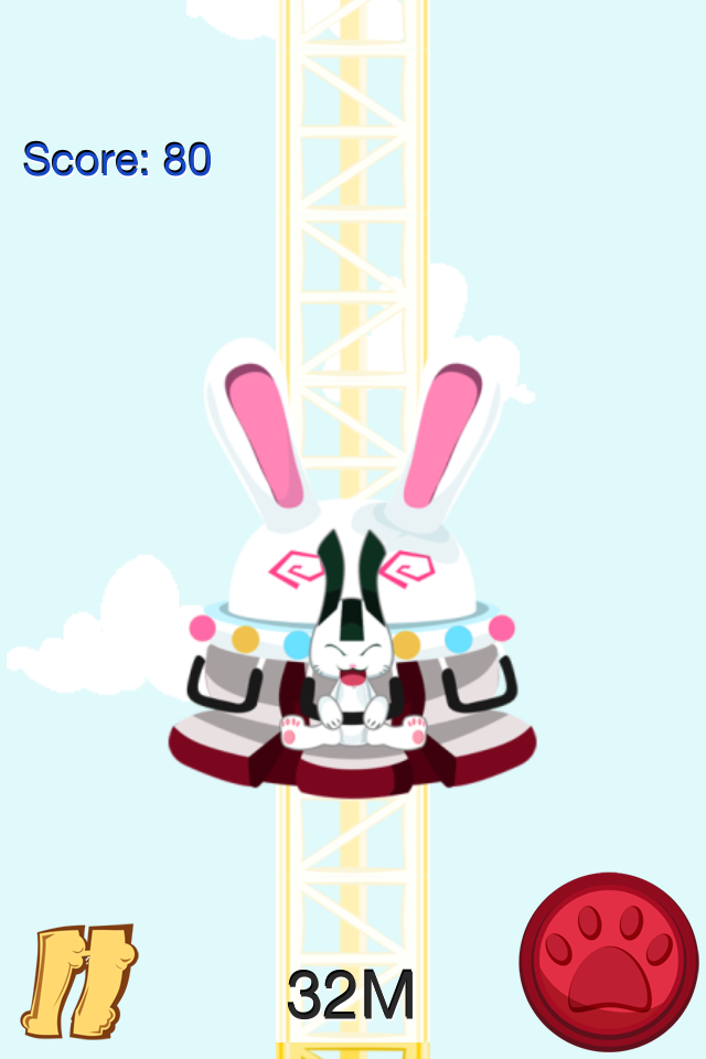 There's Something Funny About A Smashed Up Bunny In Crazy Freefall Ride