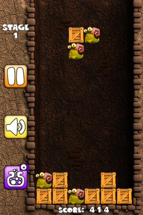Tetris Infested, Turned On Its Head In Snail Fail