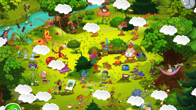 Help Mossy Find His Map In Funny Wood