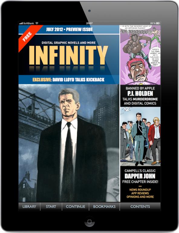Panel Nine Releases Comic Book News Magazine, INFINITY For iPad
