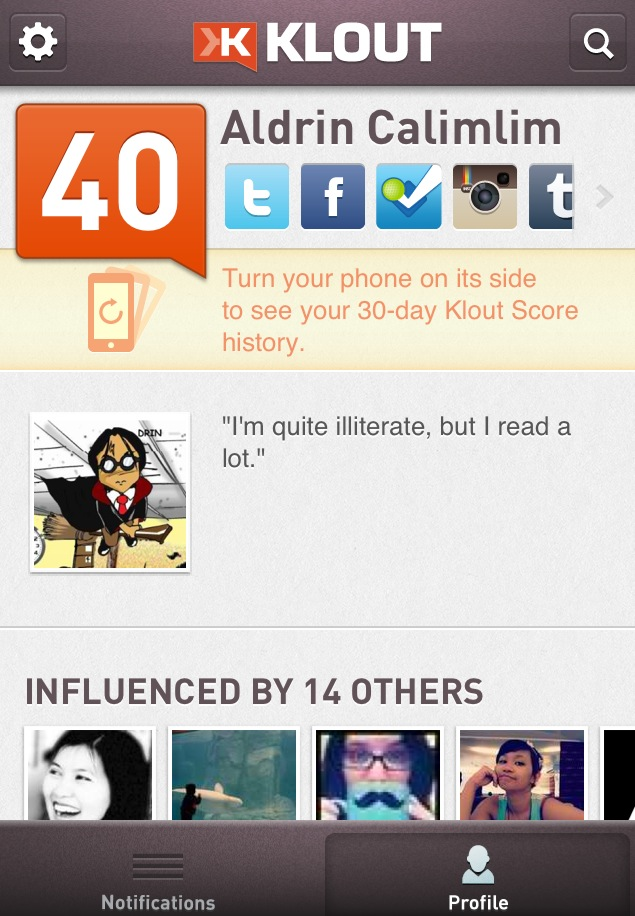 Klout For iPhone Goes Graphic With Its Latest Update