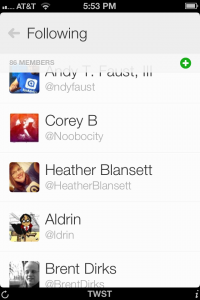 twst – the Twitter lists app by Indiepants Apps screenshot
