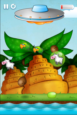 Suck Up Sheep To Power Your Spaceship In Blop! The Escape From Earth