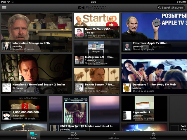 Social Video App Showyou Now Shows Full Retina iPad Support