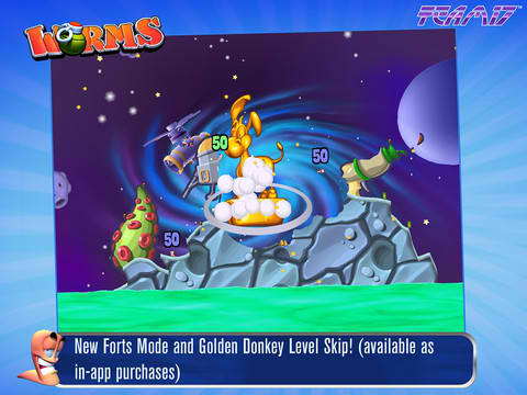 All Hail The Golden Donkey In Worms For iPhone And iPad!