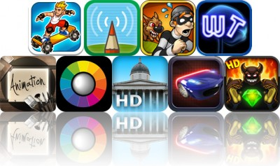 Today's Apps Gone Free: Extreme Skater, Doodlecast Pro, Robbery Bob And More
