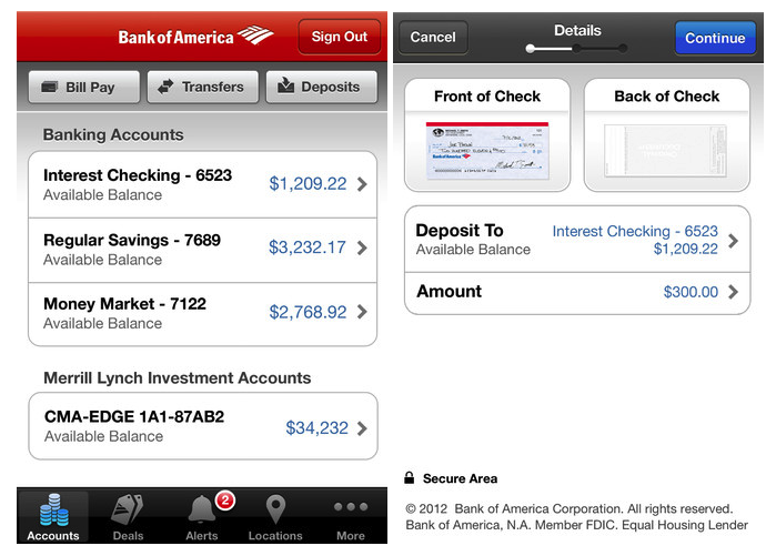 Bank Of America Customers Can Now Deposit Checks Using An iPhone