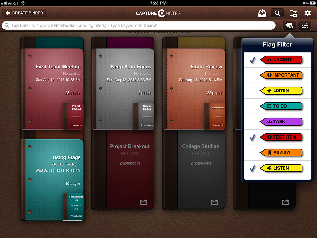 CaptureNotes 2 Arrives In The App Store With Security And Sharing Options, Plus Many Improvements