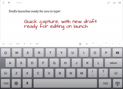 Drafts Gets Even More Amazing, Is Now On iPad, And We Have Extra Copies!