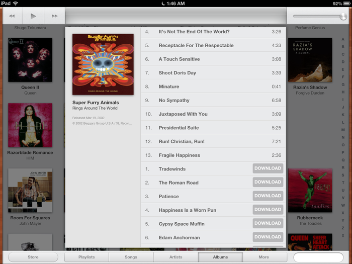 iPad Music app, iOS 6 beta 4
