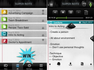 Here's Your Chance To Win A Super Note For iPad And iPhone Promo Code For Twice The Note Taking Power