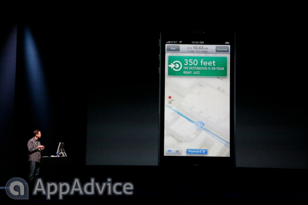Apple Demos iOS 6's Turn-By-Turn Navigation Feature