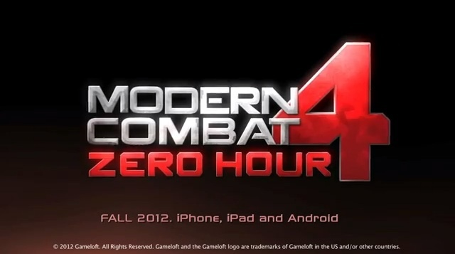 New Trailer For Gameloft's Modern Combat 4: Zero Hour Hits The Web
