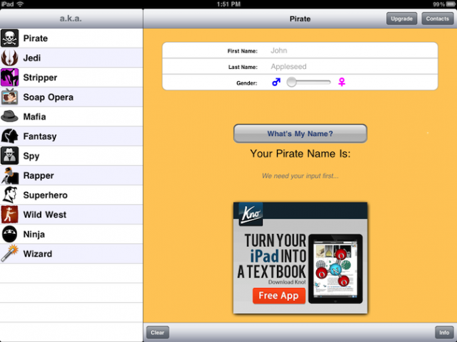 Quirky App Of The Day: Choose A New Name For The Witness Protection Program With A. K. A.