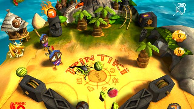 Go Coconuts In Pin Tiki Ball Free