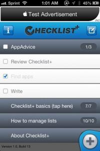 Checklist+ by Dynamic App Design screenshot