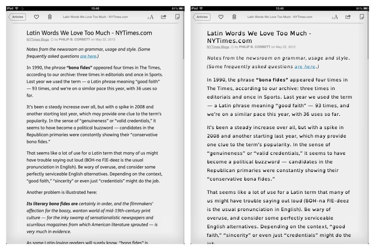 Instapaper Becomes Even More Readable Than Readability Itself