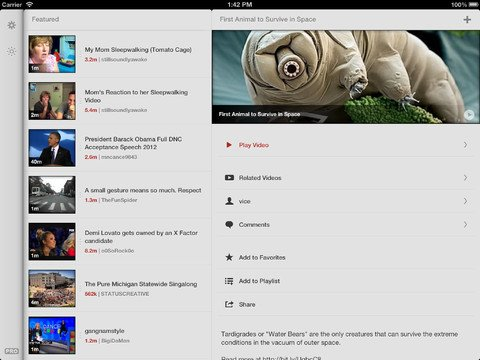 Looking For An iOS 6 YouTube Client That's Better Than Google's Own App? Then Just Pick Jasmine