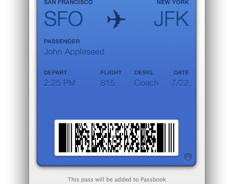Passbook Won't Require NFC, Will Work On Any iOS Device