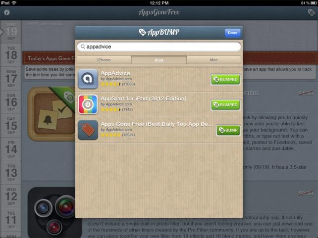 Let's Get AppBumping!
