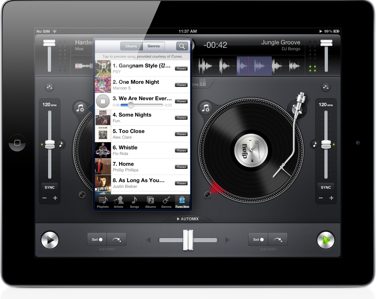 New Versions Of Djay Arrive, Offering Support for iOS 6 And iPhone 5