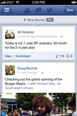 New Facebook Update Brings Support For iPhone 5, iOS 6