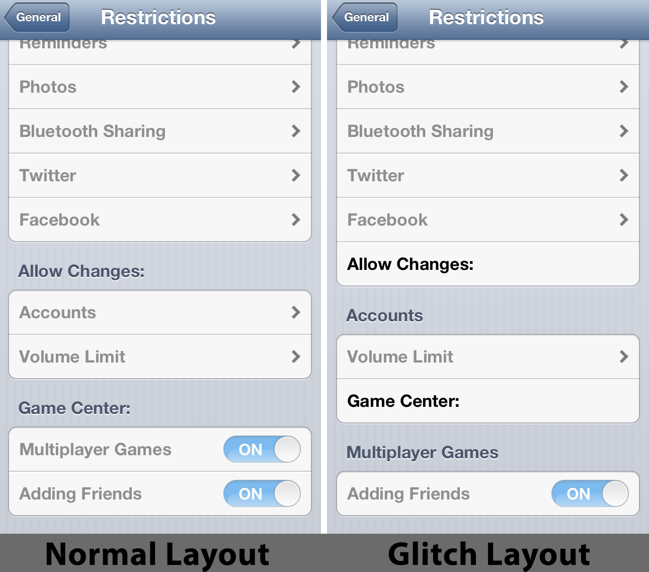 Possible Software Glitch In iOS 6 Restrictions Causes Settings App To Crash